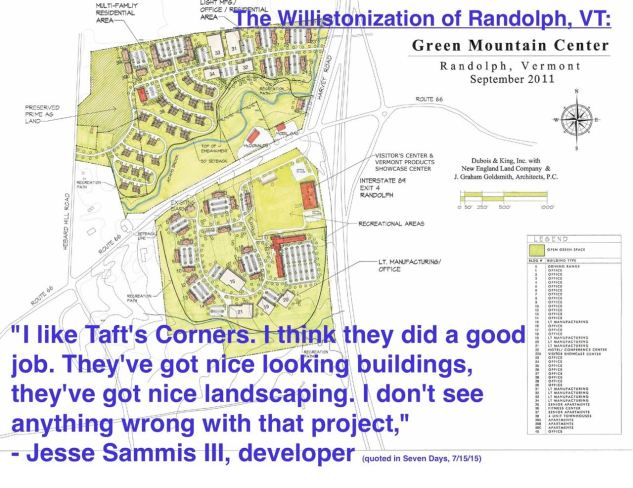 Williston Randolph Development Sprawl